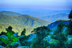 Blue Ridge Parkway National Park Sunset Scenic Mountains summer Stock Photography