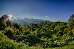 Blue Ridge Parkway National Park Sunset Scenic Mountains summer Royalty Free Stock Images