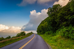 The Blue Ridge Parkway, near Asheville, North Carolina. Royalty Free Stock Photo