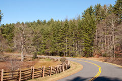 Blue Ridge Parkway in North Carolina Royalty Free Stock Photo