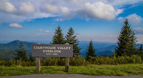 Blue Ridge Parkway Overlook Royalty Free Stock Images