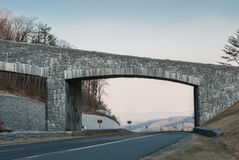 Blue Ridge Parkway Overpass Stock Image