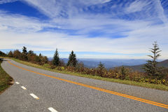 Blue Ridge Parkway Road Royalty Free Stock Image