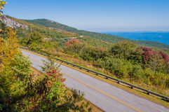 Blue Ridge Parkway Scenic Mountains Overlook Royalty Free Stock Image