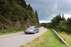 Blue Ridge Parkway scenic view. stock images