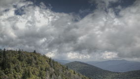 Blue Ridge Parkway Time lapse stock footage