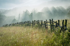 Blue Ridge Parkway Wooden Fence Royalty Free Stock Images