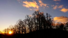 Blue Ridge Sunrise. Sunrise viewed from the Blue Ridge Parkway stock video footage