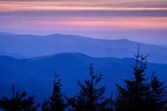 Blue Ridge Sunset Stock Image
