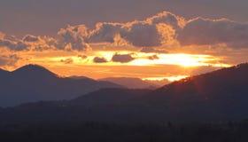 Blue Ridge Sunset Royalty Free Stock Photography