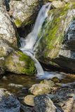 Blue Ridge Waterfall. Small hidden waterfall located on North Creek in the Blue Ridge Mountains of Virginia, USA Royalty Free Stock Photo