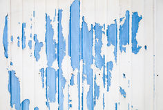 Blue ridged metal wall texture with white paint Royalty Free Stock Image