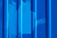 Blue ridged steel wall, background photo texture Royalty Free Stock Photography