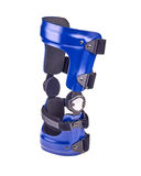 Blue rigged knee brace Royalty Free Stock Photo