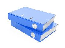 A blue  ring binder Stock Image