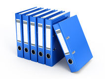 Blue Ring Binders Stock Photo
