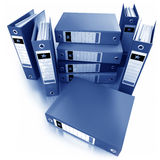 Blue ring binders Stock Images