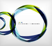 Blue ring - business abstract bubble Royalty Free Stock Images