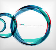 Blue ring - business abstract bubble Royalty Free Stock Photography