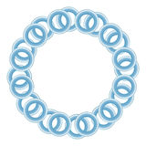 Blue Rings Circular Background Royalty Free Stock Image