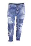 Blue ripped skinny jeans Stock Image