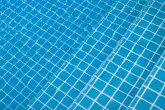 Blue ripped water. In swimming pool Stock Image