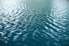 Blue ripped water in swimming pool royalty free stock photos