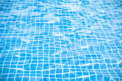 Blue ripped water in swimming pool, Background Texture Royalty Free Stock Photography