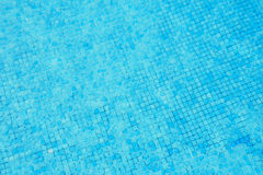 Blue ripped water in swimming pool Royalty Free Stock Photo