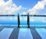 Blue ripped water in swimming pool Royalty Free Stock Photography