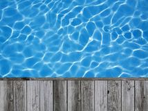 Blue ripped water in swimming pool Royalty Free Stock Images