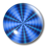 Blue Ripple Button Orb Stock Image