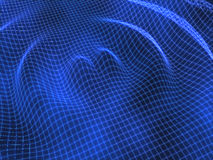 Blue ripple grid abstract background Stock Photos
