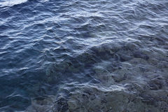 Blue ripple texture sea water Royalty Free Stock Photography
