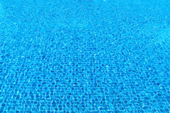 Blue ripple water in swimming pool Royalty Free Stock Image
