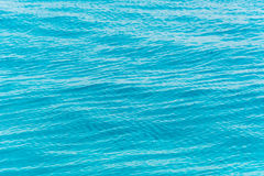Blue ripple water wave. In sea ocean Stock Photography