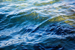 Blue ripple wave sea Royalty Free Stock Photos