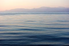 Blue Rippled Water at Dawn Royalty Free Stock Photo