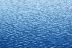 Blue rippled water surface. Water background Stock Photography