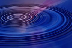 Blue ripples. Blue and pink swirling abstract background with ripples stock illustration