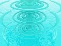 Blue ripples. Ripples  on a blue background Stock Photography