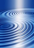 Blue Ripples. Abstract background of blue concentric ripples Royalty Free Stock Image