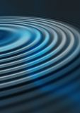 Blue Ripples. Abstract background of blue concentric ripples Royalty Free Stock Photo