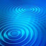 Blue ripples Stock Photo
