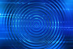 Blue ripples background Stock Image