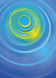 Blue yellow green Ripples background Stock Photos