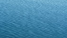 Blue Rippling Water at a Lake stock footage