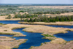 Blue river delta Royalty Free Stock Photography