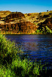 Blue river with mesa Royalty Free Stock Photo