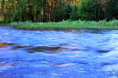 Blue river Royalty Free Stock Photos